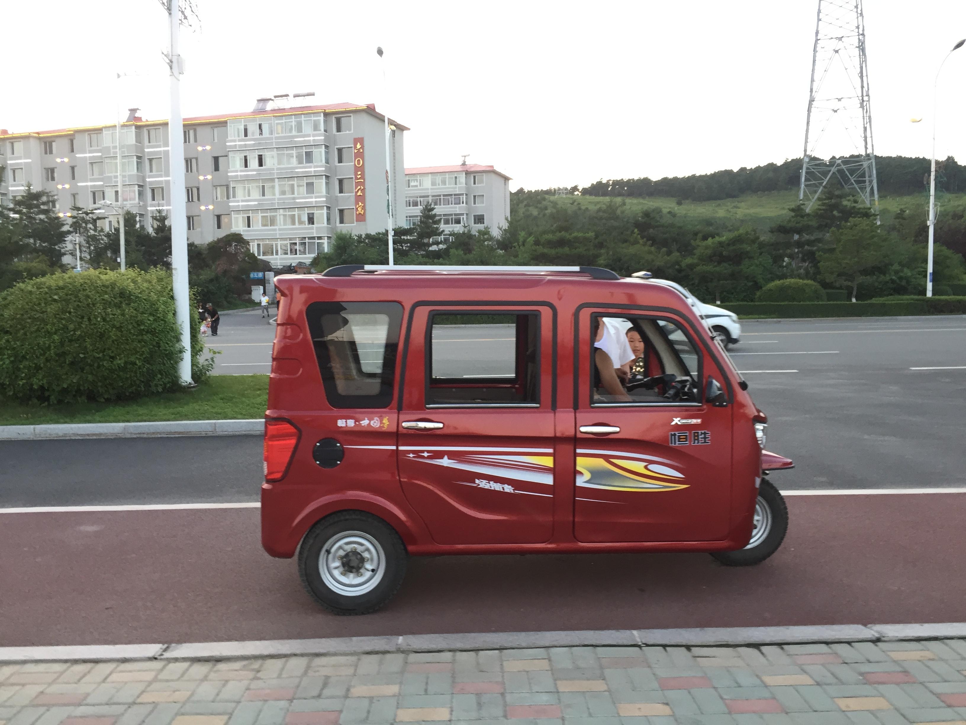 На дорогах Китая много интересных экземпляров