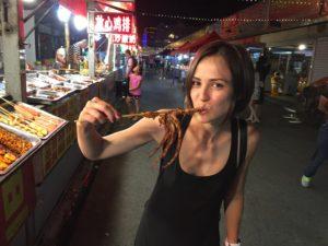 Восточный рынок, городской рынок, Хуньчунь, осьминог, устрицы, морепродукты, китайский, стрит фуд, Китай